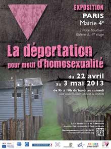 Plakat zur Ausstellung über die Deportation Homosexueller (Paris, Mairie 4e)