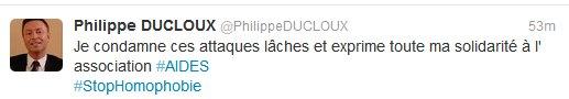 Philippe Ducloux, stellvertretender Bürgermeister von Paris, twittert seine Solidarität mit Aides