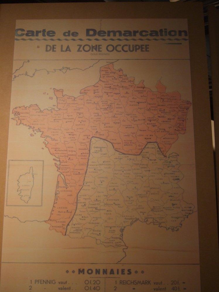 Demarkationslinie Frankreich Karte