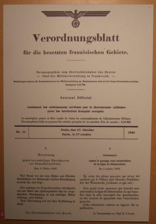 französische Demarkationslinie Verordnung