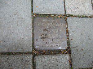 Stolperstein für Hans Hirschberg