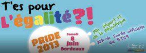 Marche des Fiertés (Gay Pride) von Bordeaux 2013