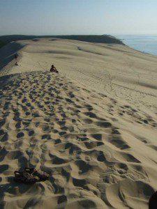 auf der Dune de Pyla, der mit bis zu 110 m Höhe größten Wanderdüne Europas