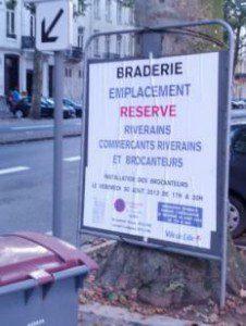 Braderie de Lille - Standflächen schon Tage im voraus reserviert ...