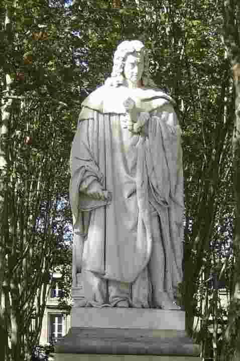 Montesquieu, Statue auf der Place des Quinconces, Bordeaux