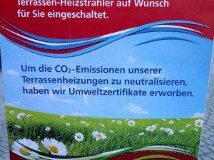 Umweltzertifikate für Terrassenheizstrahler ?