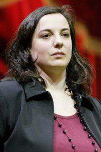 Emmanuelle Cosse 2010 während der Kampagne der EE-LV bei den französischen Regionalwahlen (Foto: Marie-Lan Nguyen)