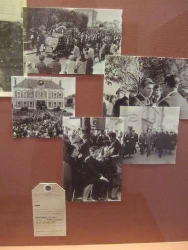Jean Cocteau, Fotos der Trauerfeierlichkeiten und Beisetzung im Jean Cocteau Haus
