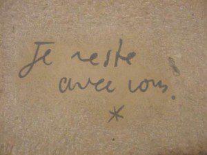 Jean Cocteau, Grab, Je reste avec vous