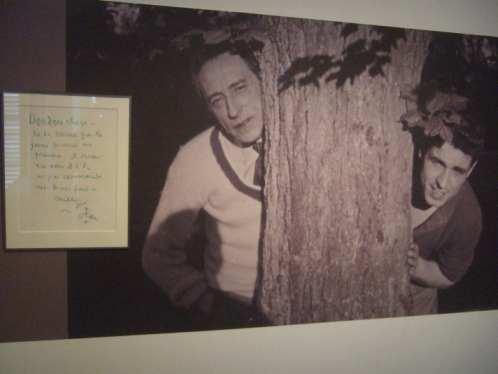 Jean Cocteau und Edouard Dermit, genannt Doudou (Foto und Notiz Cocteaus im Jean Cocteau Haus)