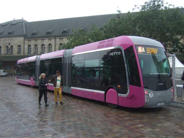 Vorbild für das BHNS Bordeaux - der METTIS Metz