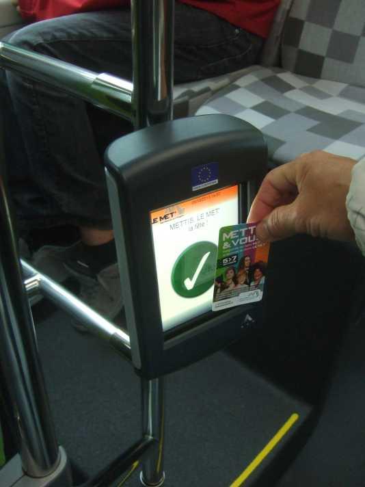 METTIS leMet Ticket RFID Entwertung