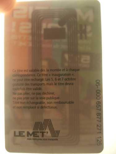 METTIS leMet Ticket RFID