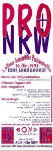 1. Landespositiventreffen NRW 1993 Flyer