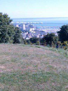 Botanischer Garten Le Havre , Blick auf Le Havre