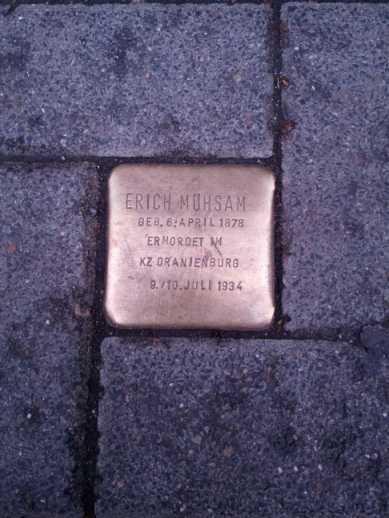 Erich Mühsam Lübeck - Stolperstein