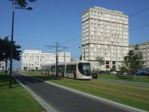 Le Havre Strassenbahn nahe Porte Océane