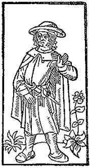 François Villon (Darstellung aus Grand Testament de Maistre François Villon, 1489)