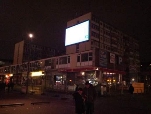 Esso Häuser in Hamburg St. Pauli Anfang Januar 2014, der baldige Abriss steht bevor