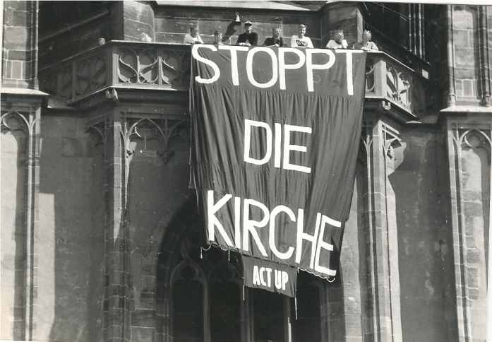 ACT UP Protest Dom Frankfurt am Main, 1. September 1991