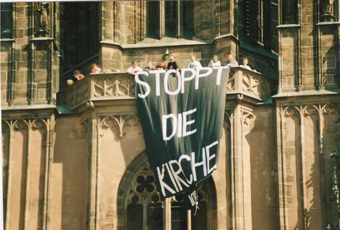 ACT UP Protest Dom zu Frankfurt am Main, 1. September 1991