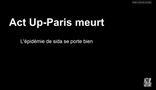 ACT UP Paris vor dem Aus? (Screenshot actupparis.org 25.2.14)