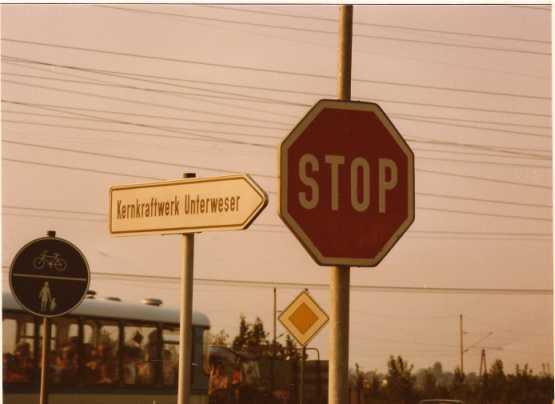 Kernkraftwerk Unterweser Stop (Foto 1981)