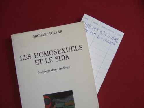 Michael Pollak Les homosexuels et le sida mit Lesezeichen von Untersuchungsterminen Jean Philippe