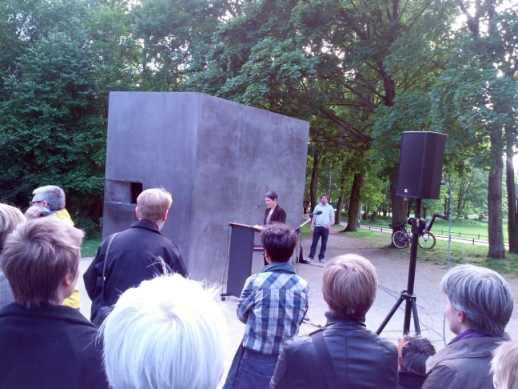 Prof. Dr. Corinna Tomberger, Gedenkstunde für in der NS-Zeit verfolgte Lesben 2014