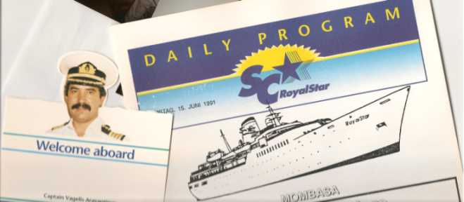 MS Royal Star : Daily Program / Kapitän Vagelis Aravantinos