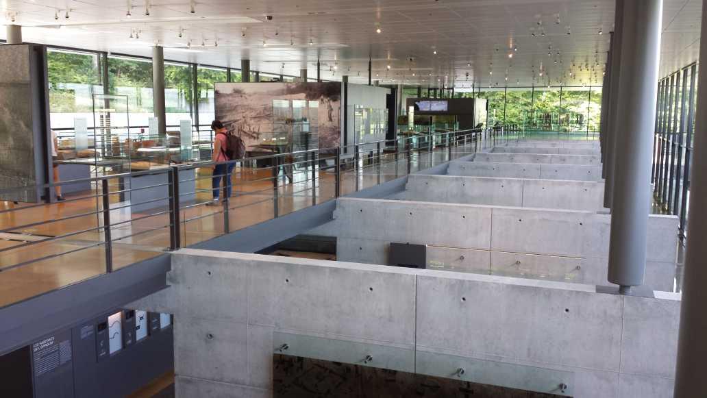 Bibracte Museum Innenansicht