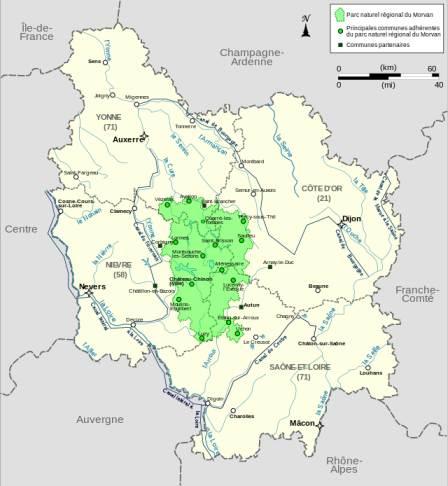 Morvan Regionalpark Karte (LeMorvandiau)
