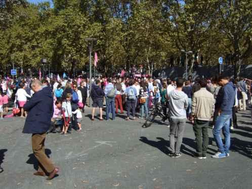 manif pour tous Bordeaux 5.10. 2014: weniger Teilnehmer als erwartet