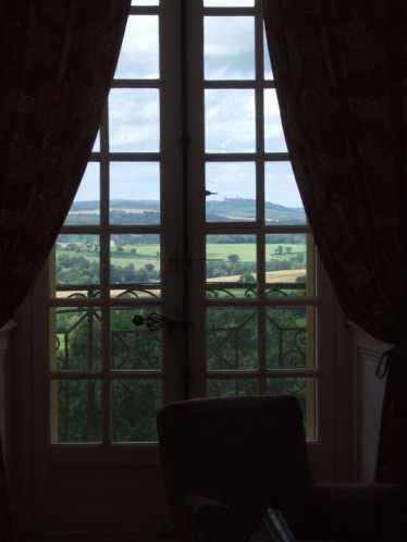 Schloss Bazoches 03 Blick auf Vezelay