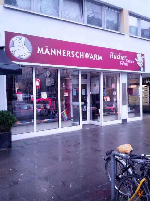 Buchladen Männerschwarm 2015, kurz vor der Schliessung