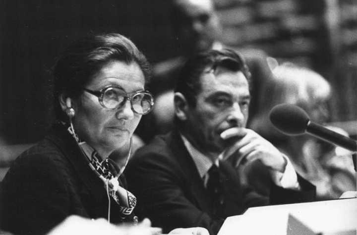 nach langem Kampf Reform Abtreibungsrecht in Frankreich - ein Verdienst von Simone Veil, hier im Europaparlament 1979 (Foto: Claude Truong-Ngoc)