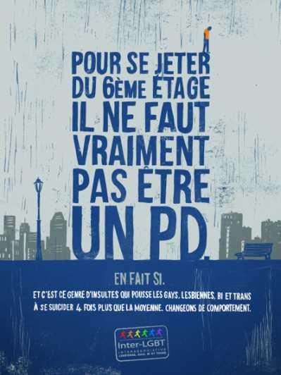 Präventionskampagne gegen Suizid bei LGBT in Frankreich (Grafik: interLGBT)