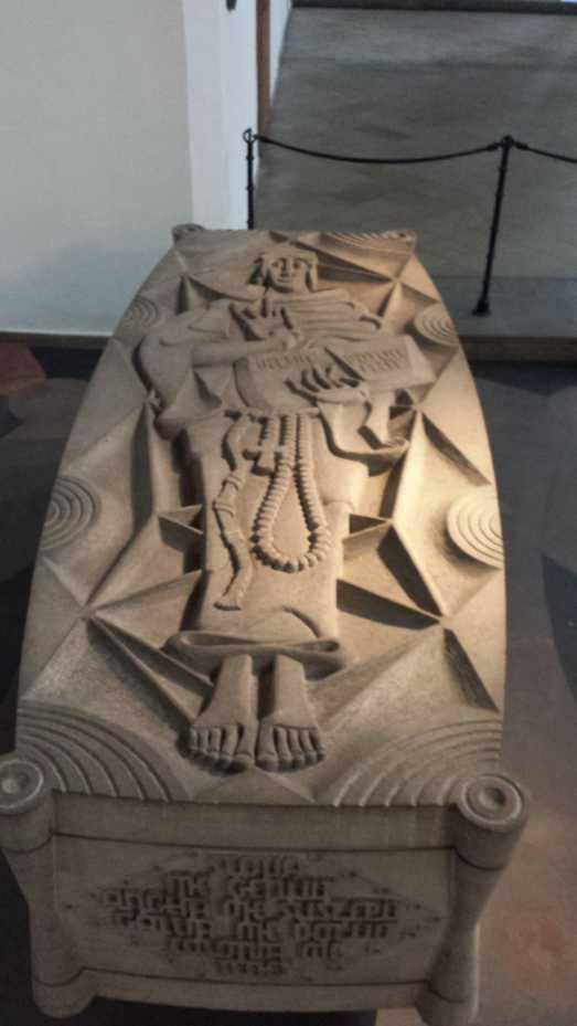 Duns Scotus Portrait auf seinem Grab, Minoritenkirche Köln