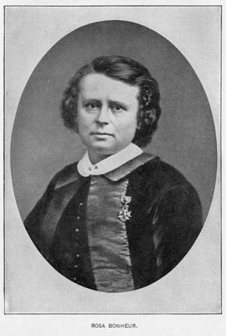Rosa Bonheur 1865 mit der Medaille der Ehrenlegion (wikipedia)