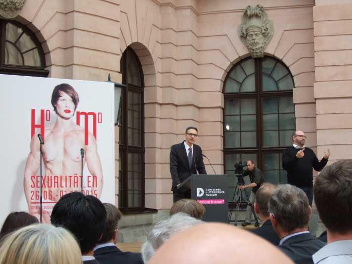 Homosexualitäten Berlin 2015 Eröffnung, Alexander Koch, Präsident Stiftung Deutsches Historisches Museum