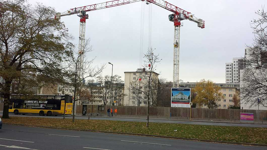 Gelände ehem. Ungers IBA Wohnblock / Baustelle im November 2016