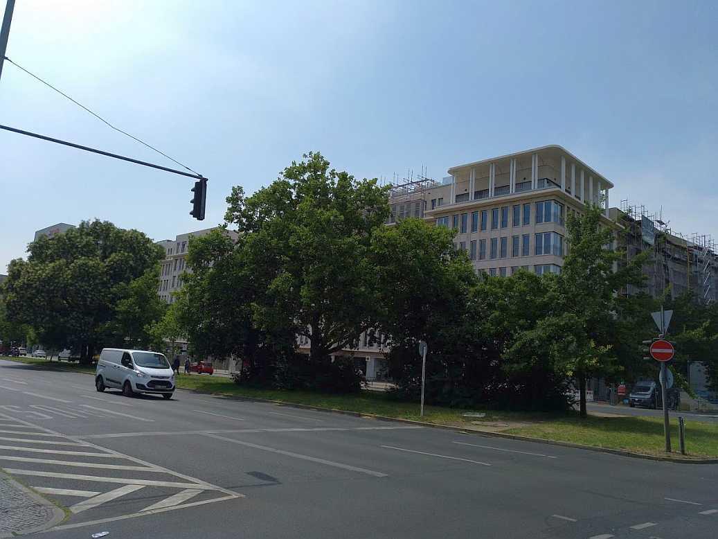 Situation ehemaliger Ungers IBA Wohnblock - zukunftig 'Lützow Carré', im Juli 2018