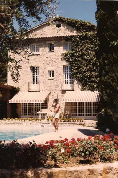 Manoir de l Etang, am Pool, August 1987
