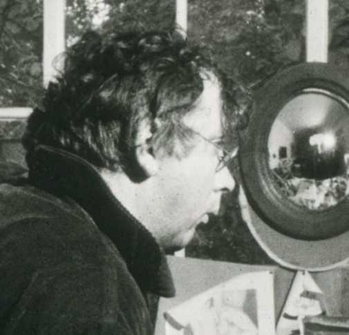 Horst Janssen in seinem Atelier in Hamburg-Blankenese 1968 (Foto: MoSchle, Lizenz cc-by-sa 3.0)