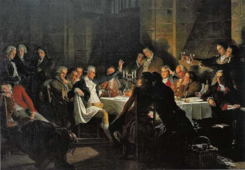 Le Dernier banquet des Girondins (Das letzte Mahl der Girondisten), Henri Félix Emmanuel Philippoteaux um 1850