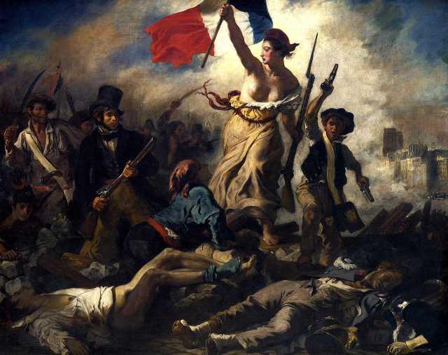 Eugène Delacroix 1830: La liberté guidant le peuple (Die Freiheit führt das Volk)