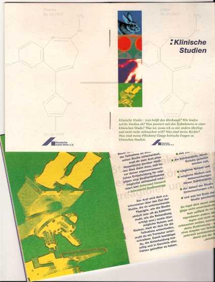 Klinische Studien - Broschüre für die DAH 1995