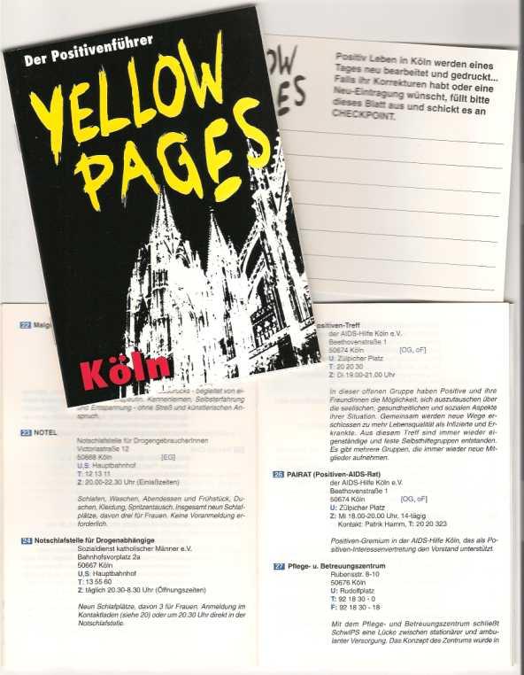 'Yellow Pages für Menschen mit HIV und AIDS' Köln 1994