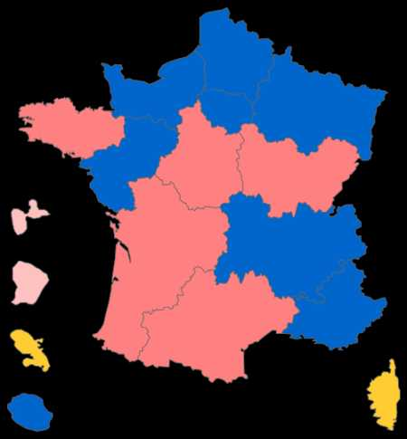 Regionalwahl 2015 in Frankreich, Ergebnisse 2. Wahlgang (Grafik: Superbenjamin)