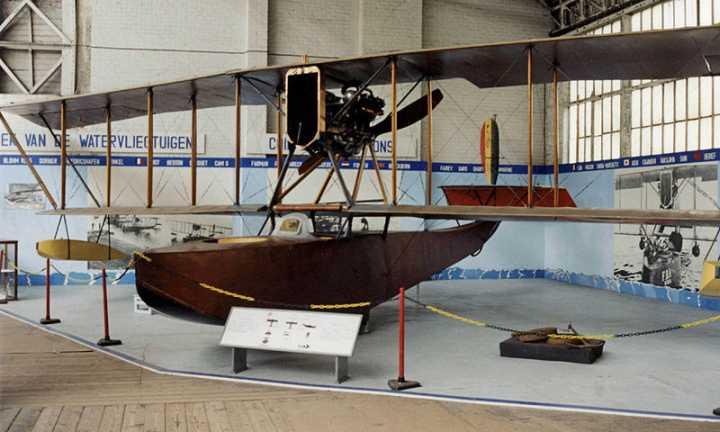 französisches Flugboot FBA Typ H im Militärmuseum Brüssel (Foto: RuthAS, Lizenz cc-by 3.0)